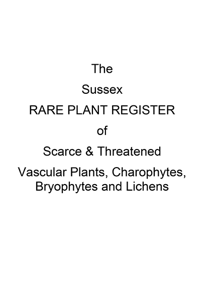 Sussex Rare Plant Register